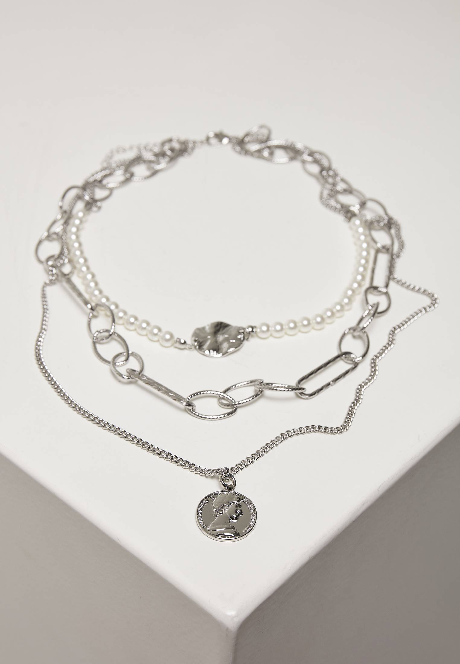 Urban Classics Ocean Layering Necklace silver - One Size