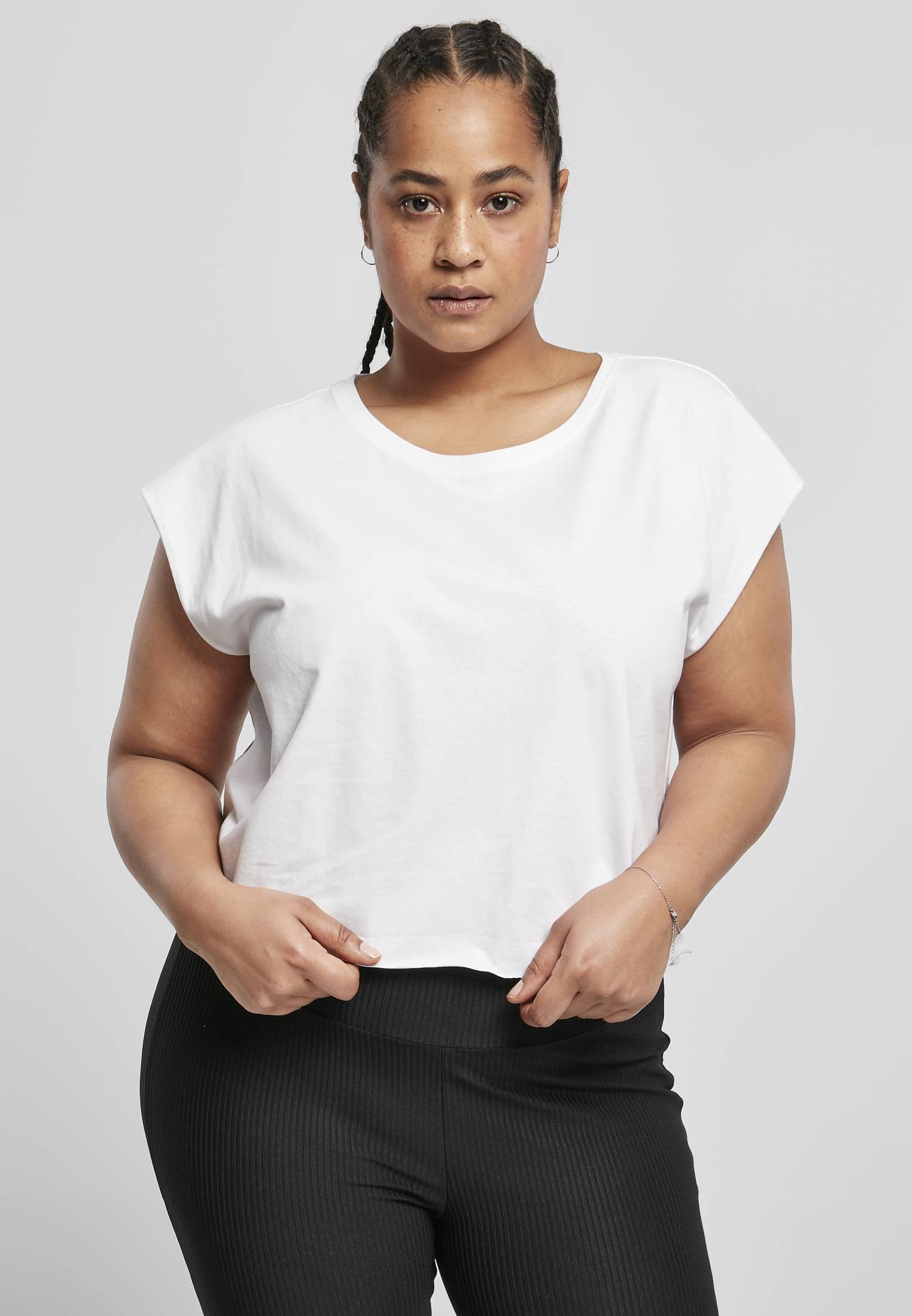 Urban Classics Ladies Organic Short Tee white - XXL