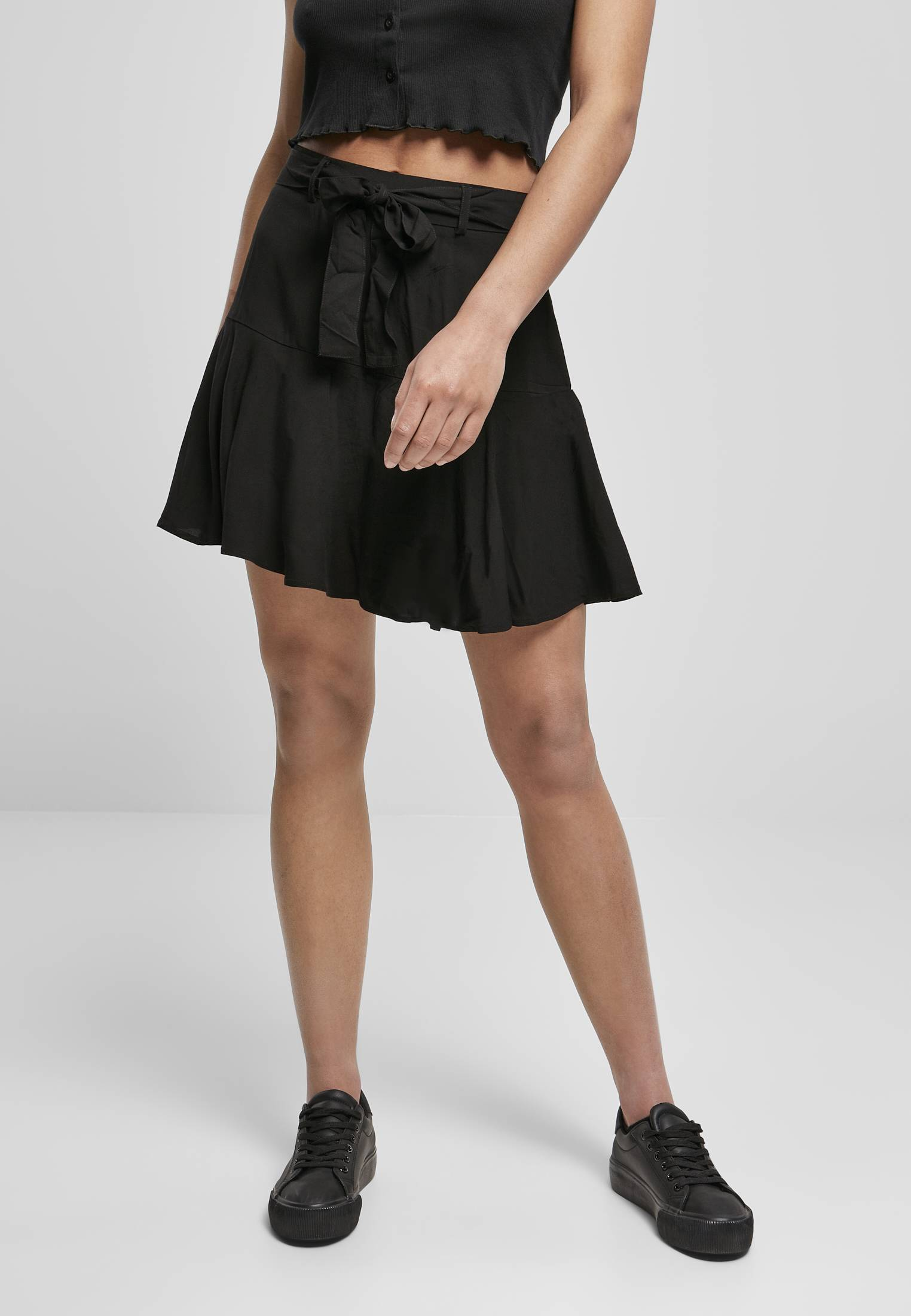 Urban Classics Ladies Viscose Mini Skirt black - 3XL
