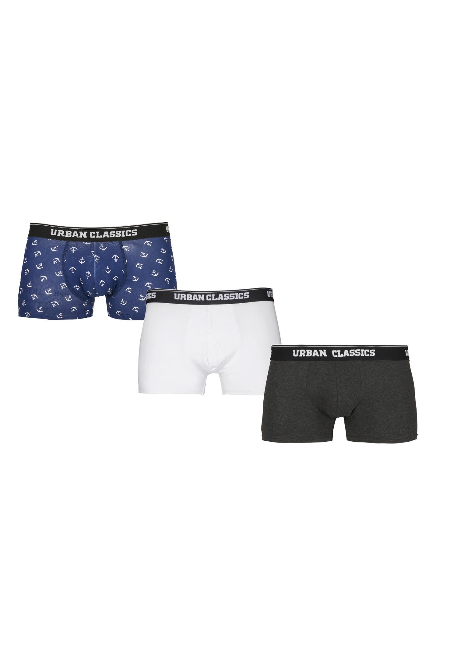 Urban Classics Boxer Shorts 3-Pack anchor aop+wht+cha - 3XL