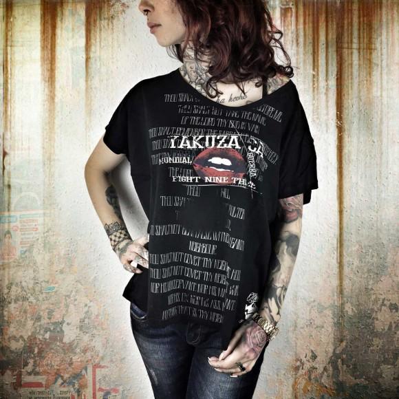 Yakuza dámske tričko Guerra Mundial GSB 7109 black - S / čierna