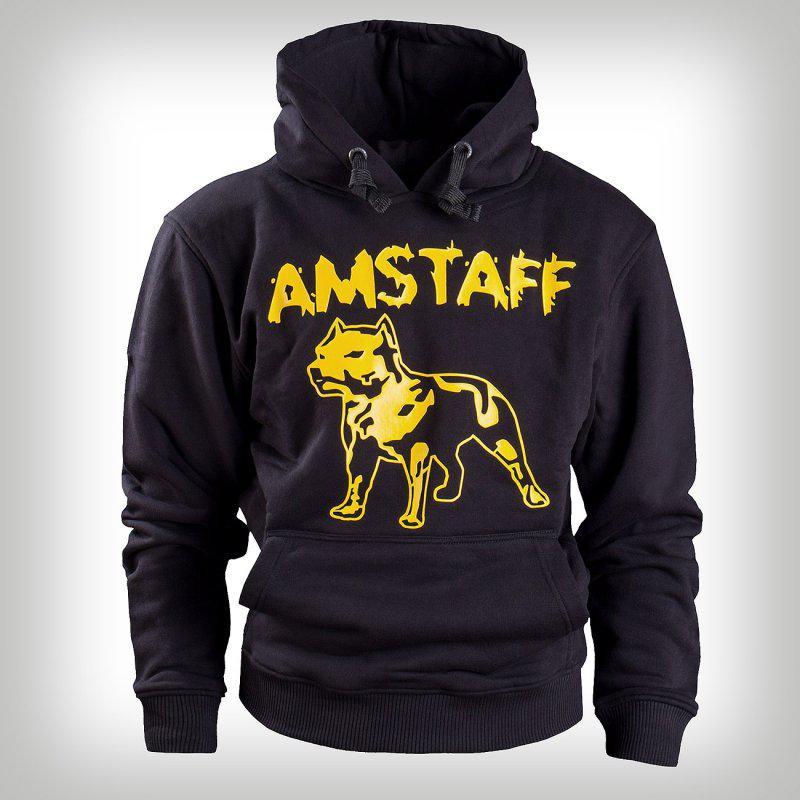 Amstaff Hoody Logo Blk Yell - M / čierna