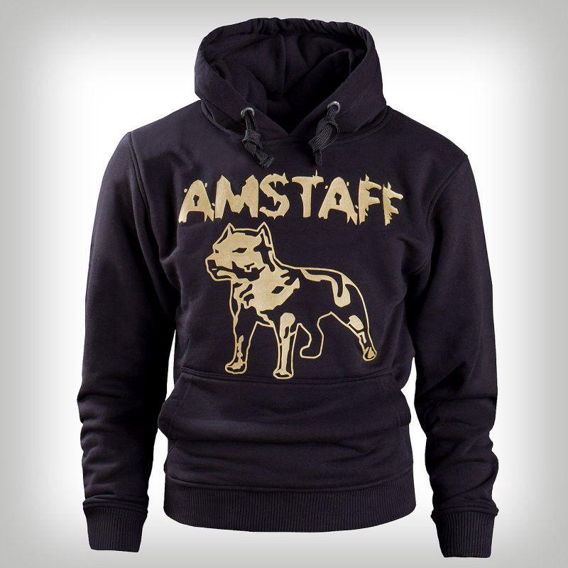 Amstaff Hoody Logo Blk Gold - 2XL / čierno-zlatá