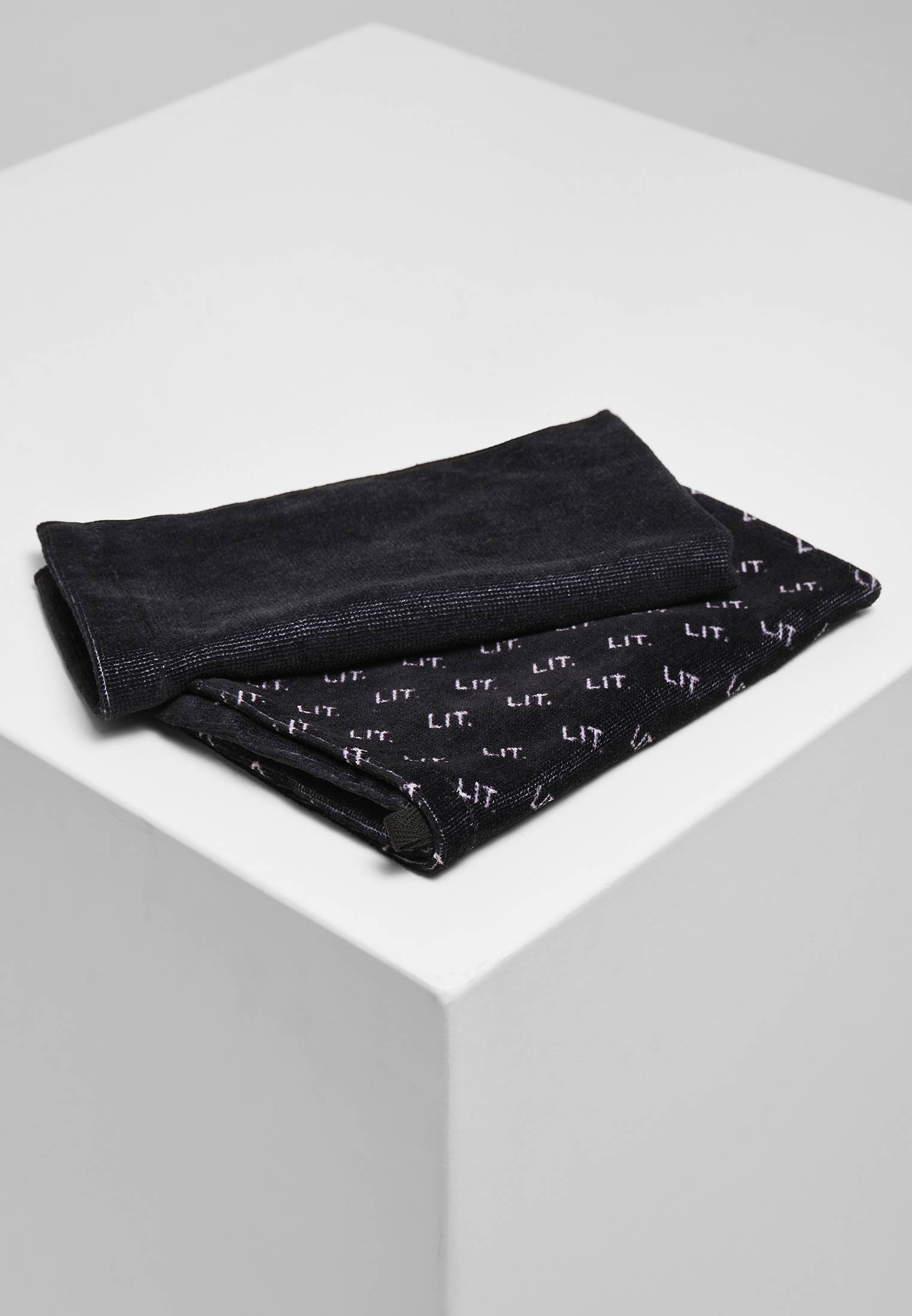 LIT Mini Towel 2-Pack black - One Size
