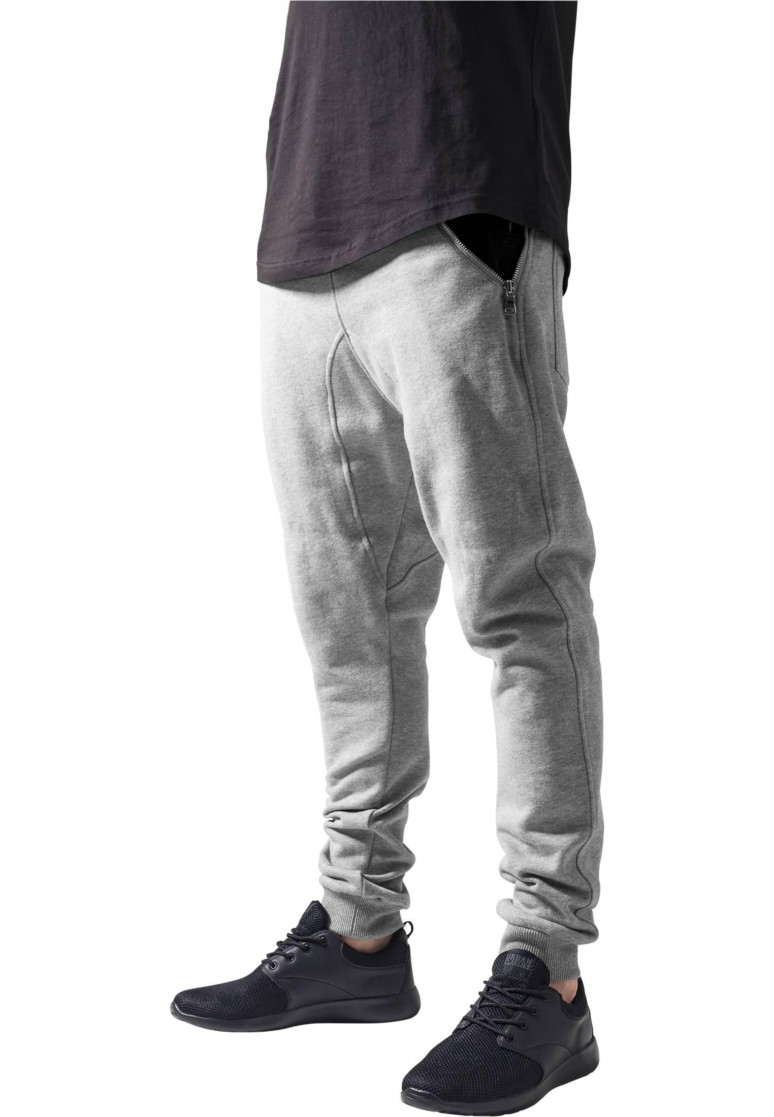 Urban Classics Side Zip Contrast Pocket Sweatpant gry/blk - S