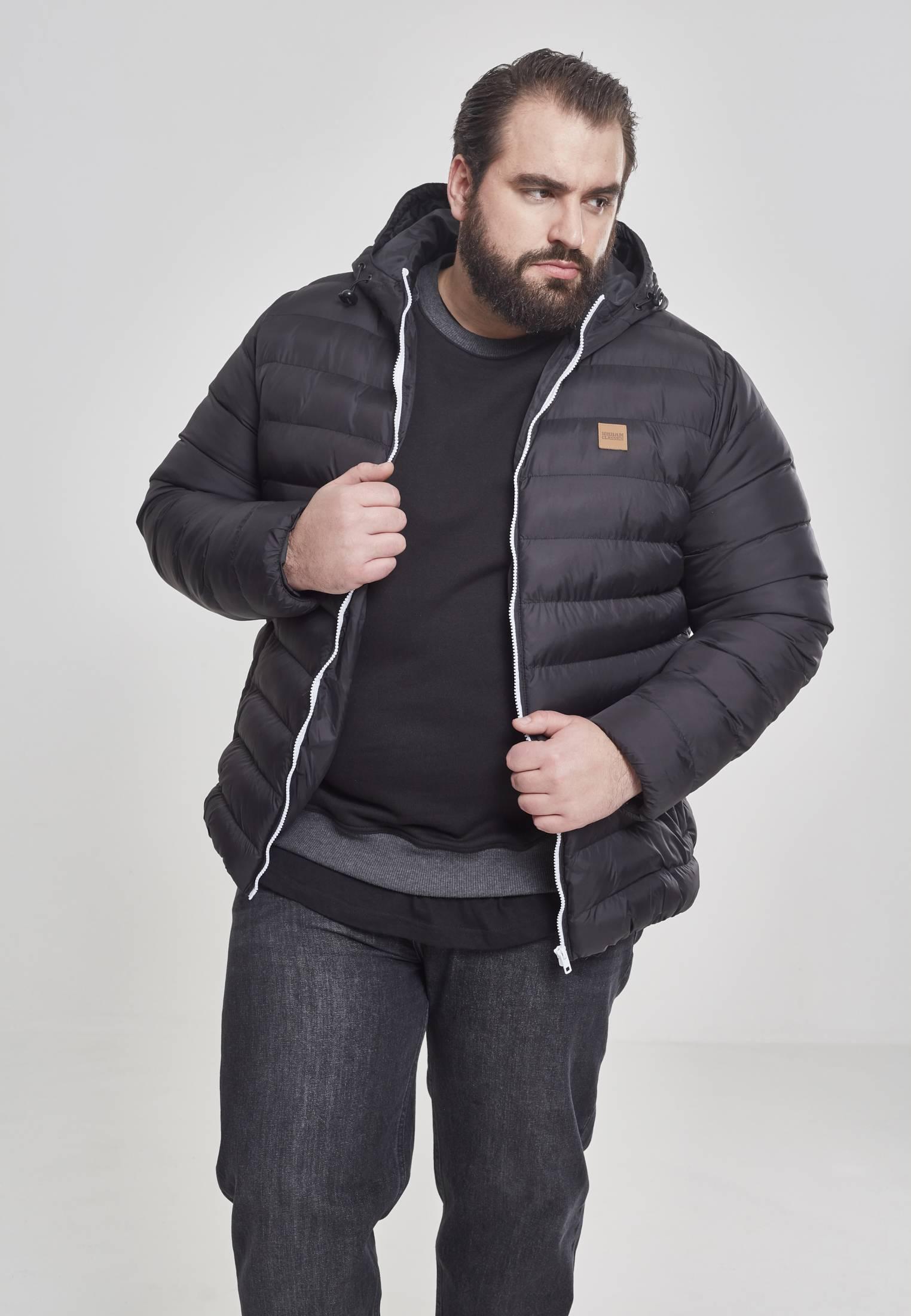 Urban Classics Basic Bubble Jacket blkwhtblk - S