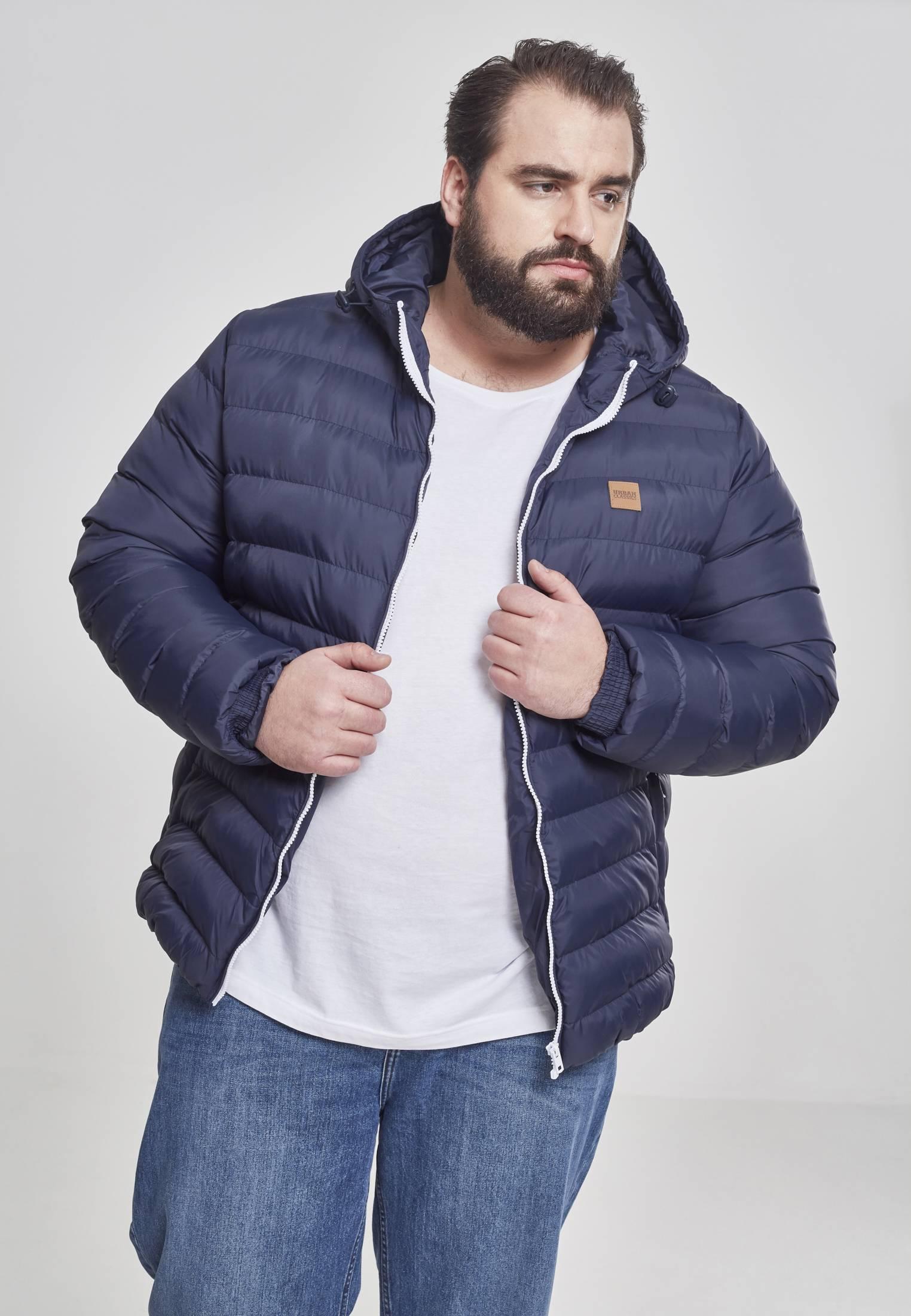 Urban Classics Basic Bubble Jacket nvy/wht/nvy - S