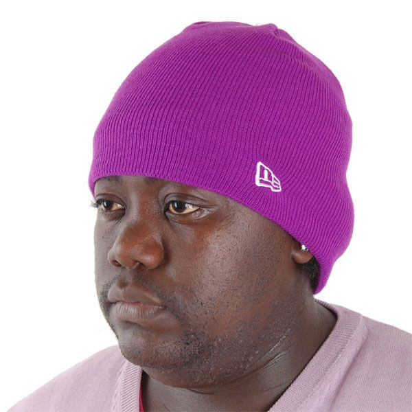 New Era Basic Skull Knit Cap Grape - Uni