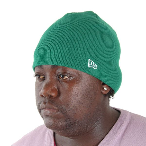 New Era Basic Skull Knit Cap Kelly Green - Uni