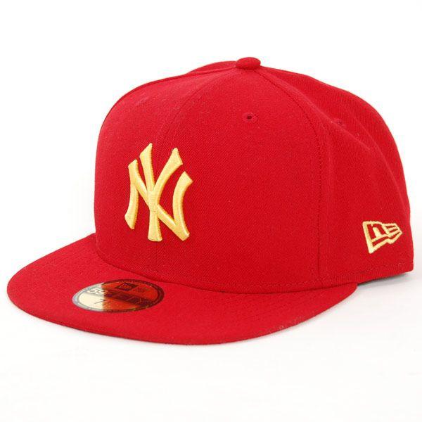 New Era Seas Con MLB NY Scarlet Yellow - 7 1/8 / červená