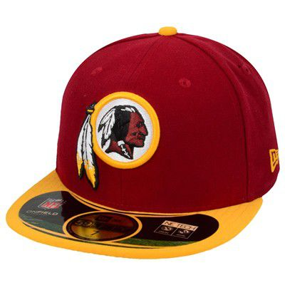 New Era Nfl On Field Washington Red Skins Fitted Cap - 7 1/4